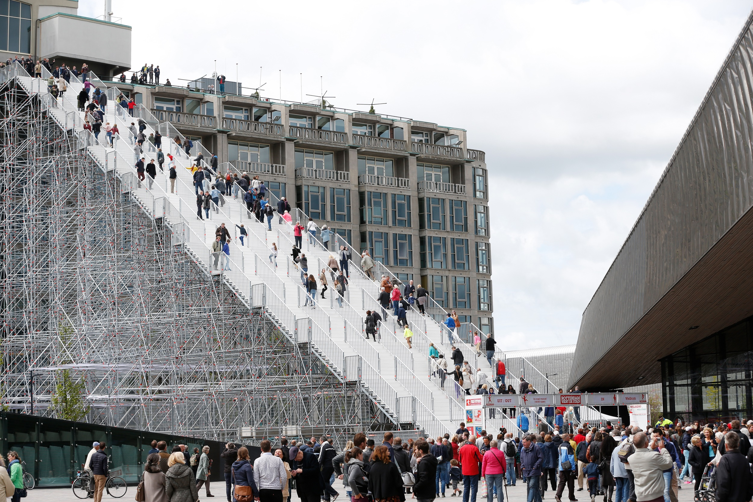 In totaal beklommen 368.611 bezoekers De Trap.
