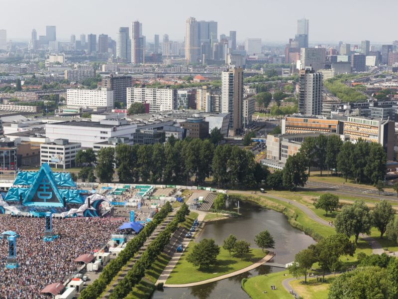 Flying Dutch festival on the grounds of Ahoy Rotterdam. Foto: Guido Pijper