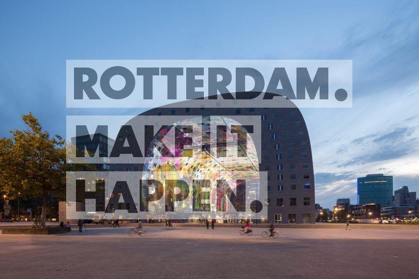De eerste overdekte markthal van Nederland bevat zo'n 100 vers units, 15 food shops en diverse restaurants. De 228 appartementen zijn in hoefijzervorm over de versmarkt gedrapeerd. Wie tussen de marktkramen door loopt en omhoog kijkt, ziet het kunstwerk 'Horn of plenty' (Hoorn des Overvloeds) van Arno Coenen en Iris Roskam. Door dit grootste kunstwerk van Nederland wordt de Markthal ook wel de Nederlandse versie van de Sixtijnse Kapel genoemd.