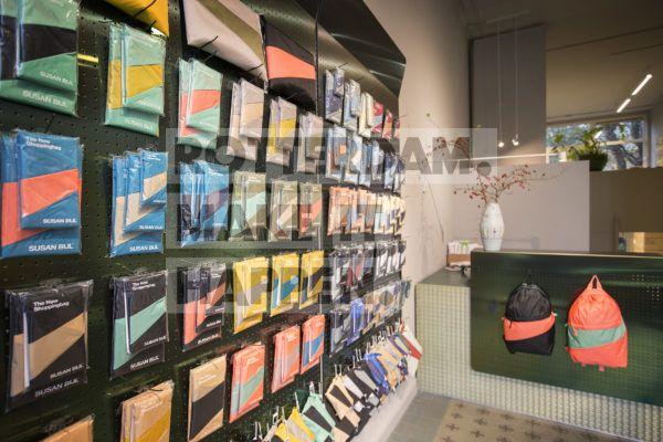 Winkel van ontwerpster Susan Bijl bekend van de New Shopping Bag.