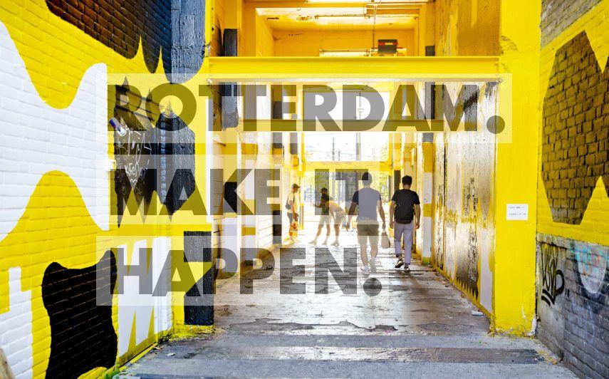 Tunnel horend bij de Luchtsingel in Rotterdam, uitgevoerd door Opperclaes.