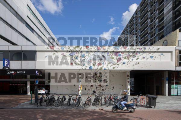 Street art kunstwerk van Collin van der Sluijs in de Karel Doormanstraat.