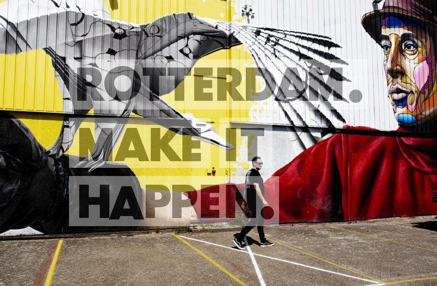 Street art piece bij de Keilewerf gemaakt door Nuno Viegas & Tymon de Laat.