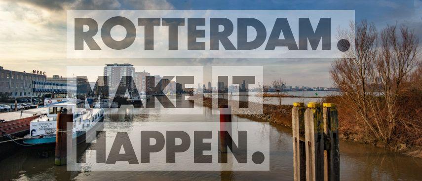 IJsselmonde: Uitzicht vanaf het Eiland van Brienenoord.