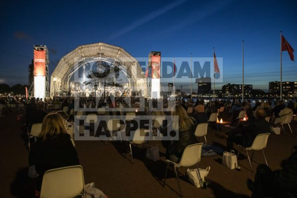 Sinfonia Maritiem Concert 2020 by night.