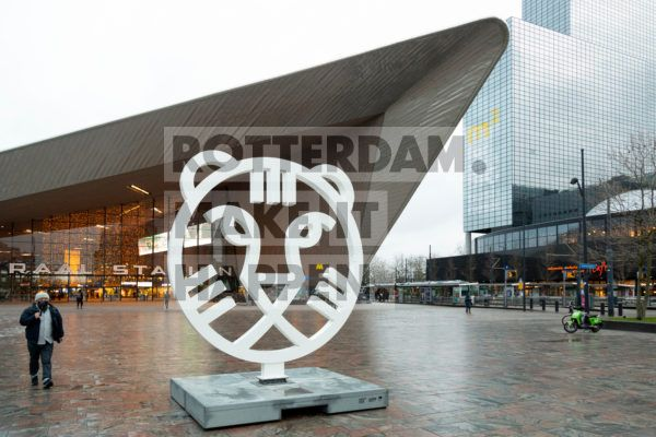 IFFR-tiger in front of Central Station.